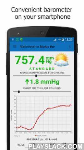 Barometer In Status Bar Lite  Android App - playslack.com , Barometer in the status bar — an application for measuring atmospheric pressure on Android smart devices equipped with a pressure sensor.The program displays the current air pressure, pressure changing value and the chart for a certain time period.The main feature of the application is the air pressure display in the status bar of the device.The program will be useful to those people, who are interested in weather, addicted to…