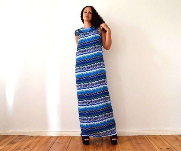 ♥ DIY no sew MAXI DRESS in 5 minutes