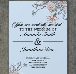 Free Floral Wedding Invitation Download!