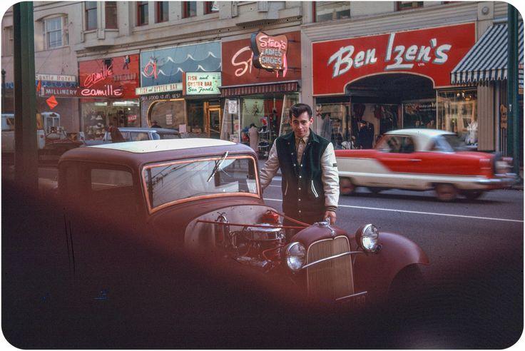 Canadian Hotrod, Granville Street - Vancouver, Canada - 1963
