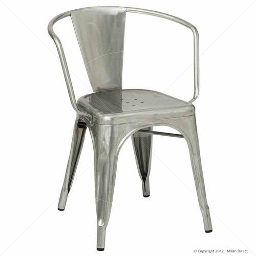 Tolix Premium Armchair - Xavier Pauchard Reproduction - Galvanised
