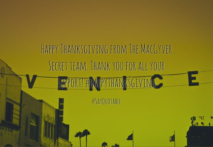 Quotes about Happy Thanksgiving from The MacGyver Secret team.  Thank you for all your support!  #happythanksgiving   with images background, share as cover photos, profile pictures on WhatsApp, Facebook and Instagram or HD wallpaper - Best quotes