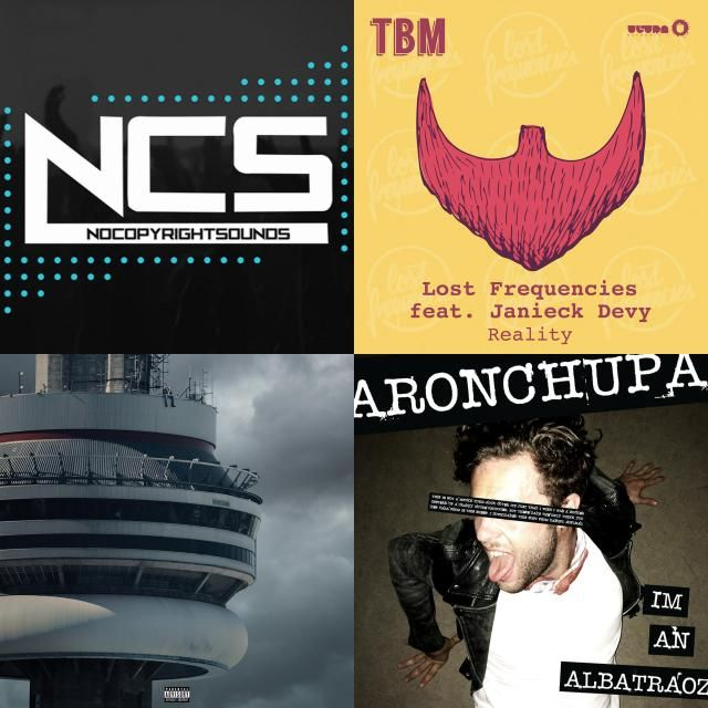 A playlist featuring Drake, Lost Frequencies, Different Heaven, and others