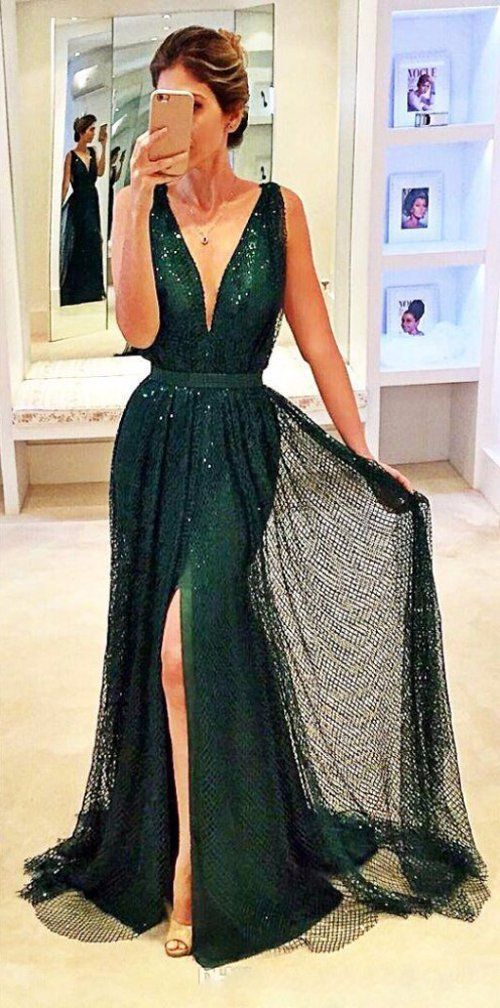 Emerald gown for evening