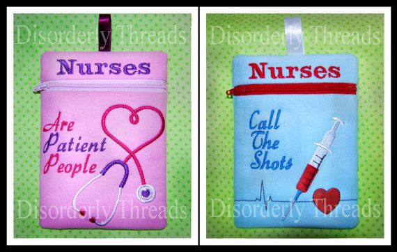 Nurses TWO PACK Zippered Bags 6x8.5  xxx vip  by DisorderlyThreads
