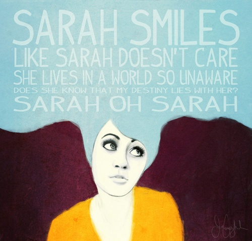 Day 6: a song that reminds me of my best friend.  Sarah Smiles by PATD
