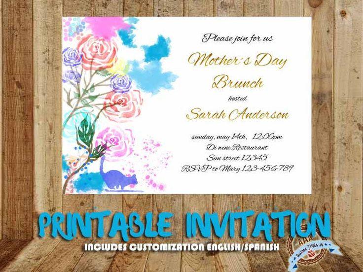 Quiero compartir lo último que he añadido a mi tienda de #etsy: Mothers day, Mothers Day Brunch, Mothers day invite, Brunch invites, Mothers day party, Happy mothers day, Moms day, Mom birthday card http://etsy.me/2oJNwQu