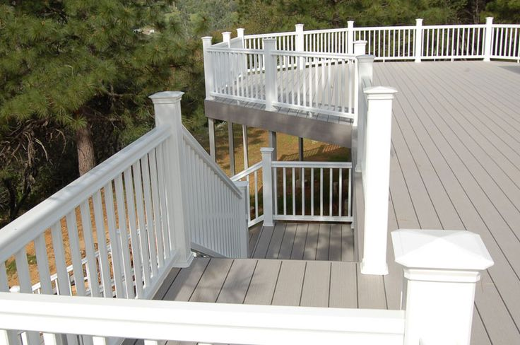 Twinfinish grey has all types of tools to for Second story decks with stairs