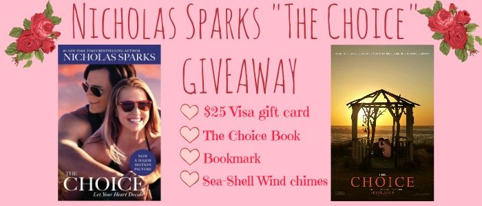 It's the month of love…..The new Nicholas Sparks movie #TheChoice in theaters 2/5! #Chooselove and enter to win this great package!