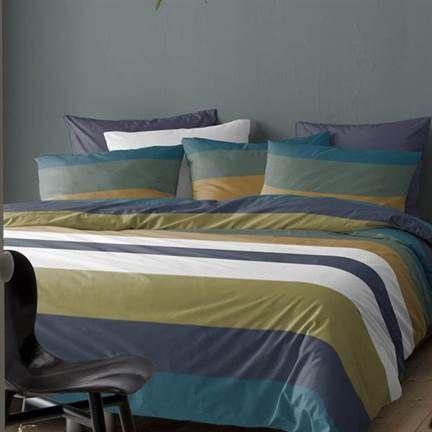 Cinderella Regatta dekbedovertrek #inspratie #slaapkamer #gestreept #groen #blauw #gestreept #beddengoed