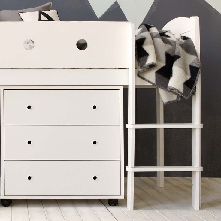 A comfortable den of a bed with the most important accessories fitting in to the most compact of spaces. No bedroom is complete without a chest of drawers, and maybe a desk to work at.