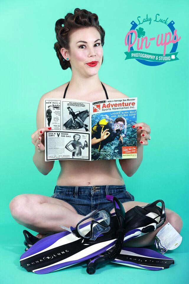 From my promo shoot with Adventure Sports Newmarket for their new scuba gear!   #ladyluckpinups #pinup #photographer #stcatharines #pinupphotographer #scuba #adventuresports #motheranddaughterpinup www.facebook.com/ladyluckpinups