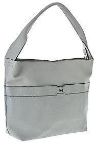 H by Halston Pebble & Saffiano Leather Hobo Handbag