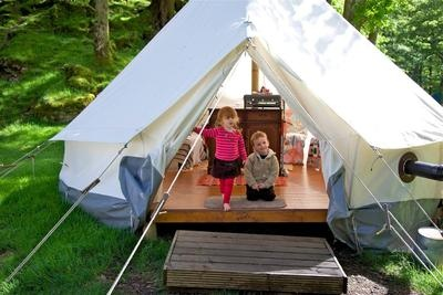 Go glamping in the Lakes with one of these lovely bell tents set in the spectacular Borrowdale Valley