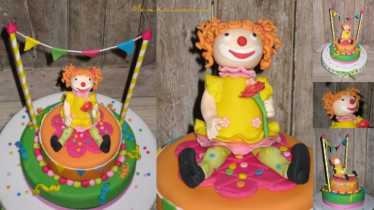 Zirkus Clown Mädchen Torte