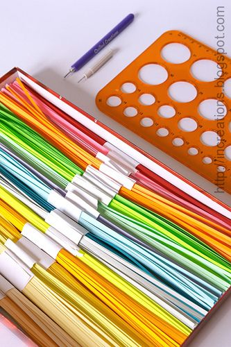 DIY: Cutting paper strips for quilling at Inna's Creations Crafts, Kids, Quilling