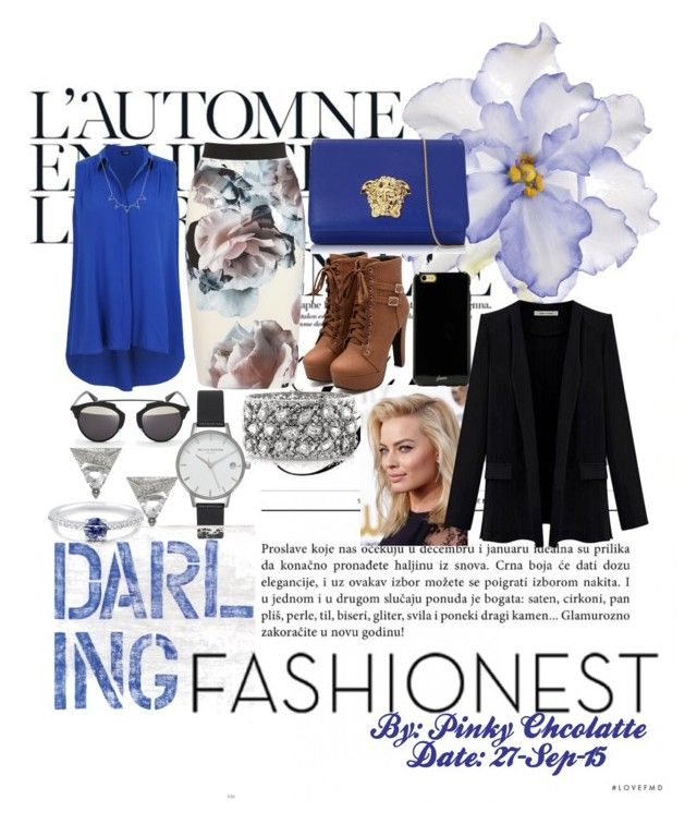 #123 Fashionest: Trendy Fashion Jewelry by pinky-chocolatte on Polyvore featuring polyvore fashion style Versace Mark Broumand Olivia Burton BERRICLE Sonix D-ID Universal Lighting and Decor CO Été Swim