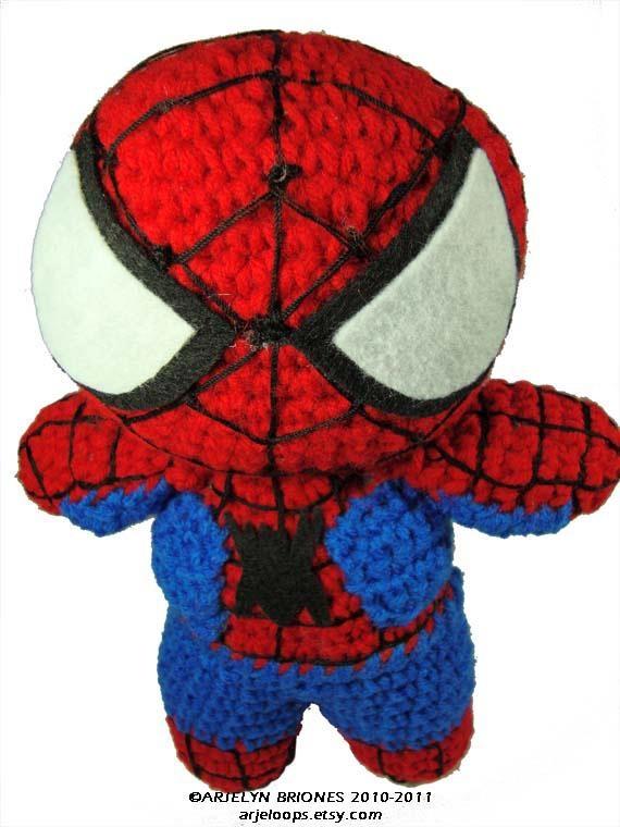 Free Amigurumi Spiderman Pattern : SPIDERMAN CROCHET DOLL (no pattern) Haken: Amigurumi ...