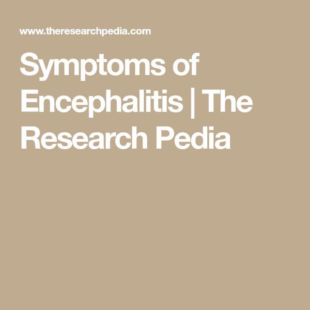Symptoms of Encephalitis | The Research Pedia