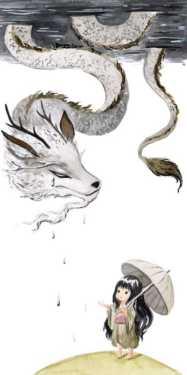 "Saatchi Art Artist: Indrė Bankauskaitė; Watercolor Painting ""Water Dragon"""