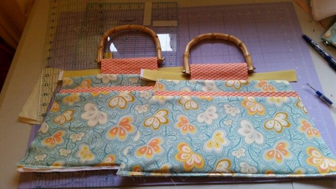 Hand bag in the making