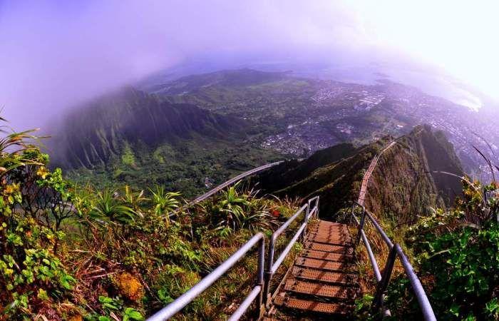 Лестница Хайку, остров Оаху
