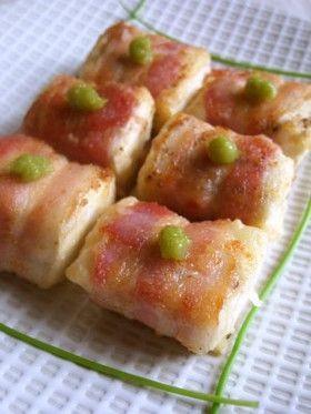 ベーコン巻き一口豆腐ステーキ*山葵と共に