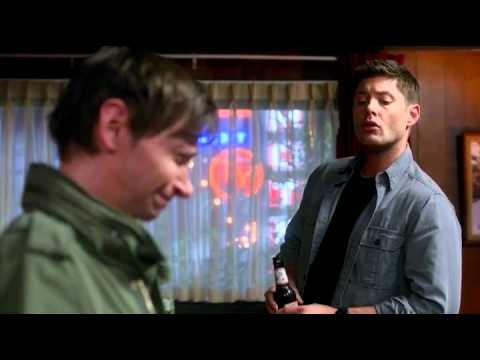 "Supernatural 7x18 Party On, Garth - Dean, Sam, & Garth ""No! Coffee for you Tara Reid"""