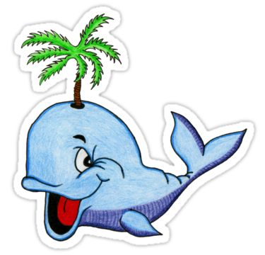 Happy Whale Sticker by StickerNuts
