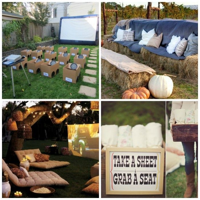 How to Host and Outdoor Movie Party | DIY for Life
