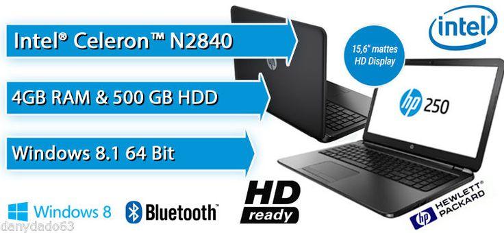 EURO 239,00 SHIPPING WORLDWIDE! http://www.ebay.it/itm/NOTEBOOK-HP-250-G3-INTEL-N2840-4GB-RAM-500GB-W8-1-BING-K3W99EA-CON-with-DVDRW-/321650438175?pt=LH_DefaultDomain_101&hash=item4ae3dc301f