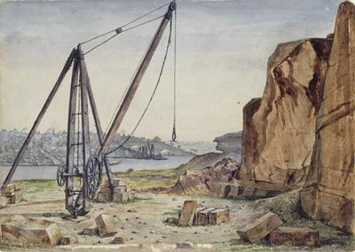 Interesting: Hell, Purgatory and Paradise in the olde Sydney Pyrmont quarry by A. Tischbauer; reproduced courtesy State Library of NSW: http://www.powerhousemuseum.com/exhibitions/paradise_sandstone.php