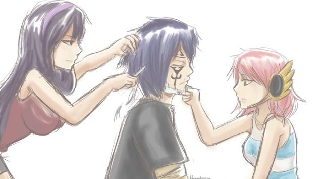 Ultear and Meredy cleaning up Jellal after his prison ...
