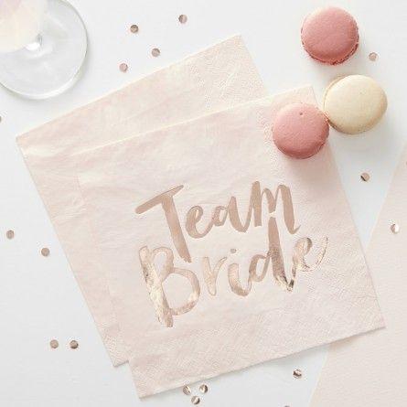 """Servietten """"Team Bride"""" (16 Stück)"""