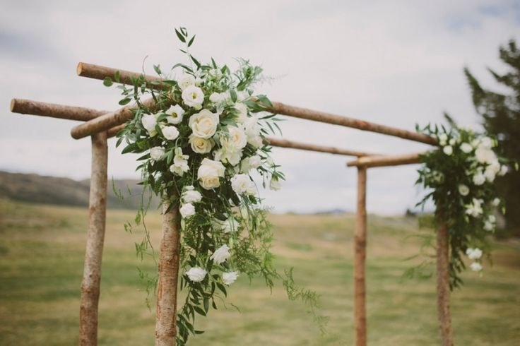 WOODEN ARCH by Queenstown Wedding Hire