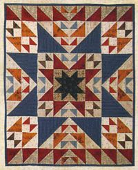 Lori Smith's ODD FELLOW'S CHAIN mini quilt with Thimbleberries fabrics and short instructions