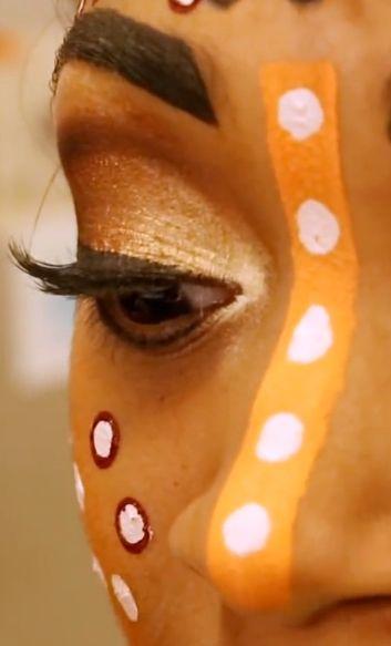 Broadway Nala's eye makeup