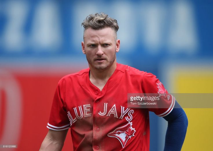 Josh Donaldson #20 of the Toronto Blue Jays after being stranded at the end of the fifth inning during MLB game action against the Houston Astros at Rogers Centre on July 9, 2017 in Toronto, Canada.