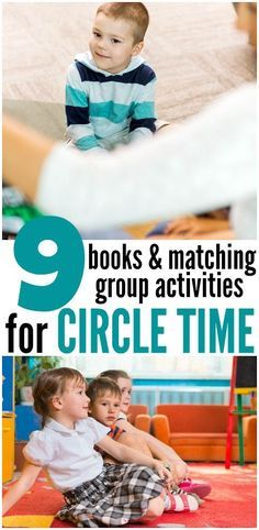 Circle time ideas for 2 year olds and 3 year olds. Each is based on a book and covers basics like counting, letter recognition, and opposites.