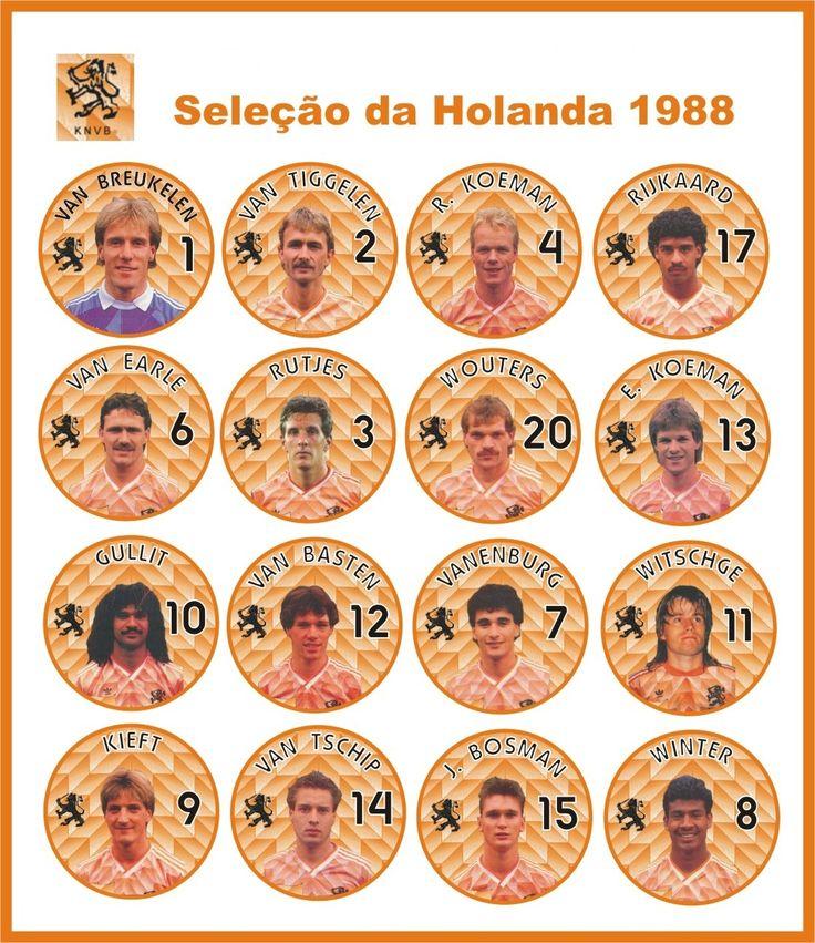 Selección de Fútbol de Holanda, campeona de la Copa Europea de Naciones en 1988, derrotando a la Selección de la U.R.S.S. con marcador de 2-0