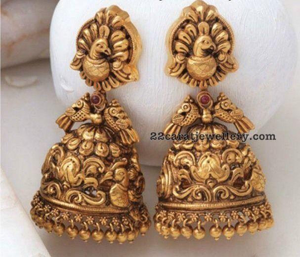 Temple Jewelry Large Jhumkas | Jewellery | Gold jhumka