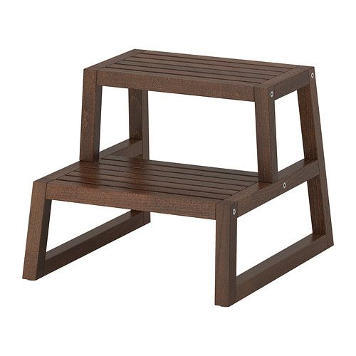 MOLGER Keukentrap/kruk - donkerbruin  - IKEA