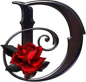 rosavecina.net: abecedario metal negro rosas, png ,rosavecina.net