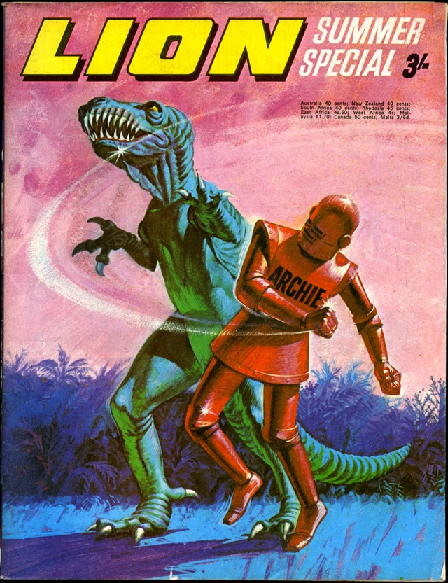 LION Summer Special 3/- (Robot Archie vs T. Rex)