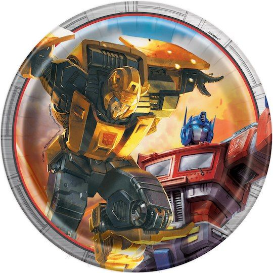 Transformers Paper Cake Plates | Transformers Party Supplies