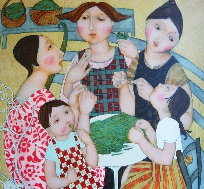 Mothers and their children by Cecile Veilhan