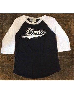 Custom Baseball Tee Lions