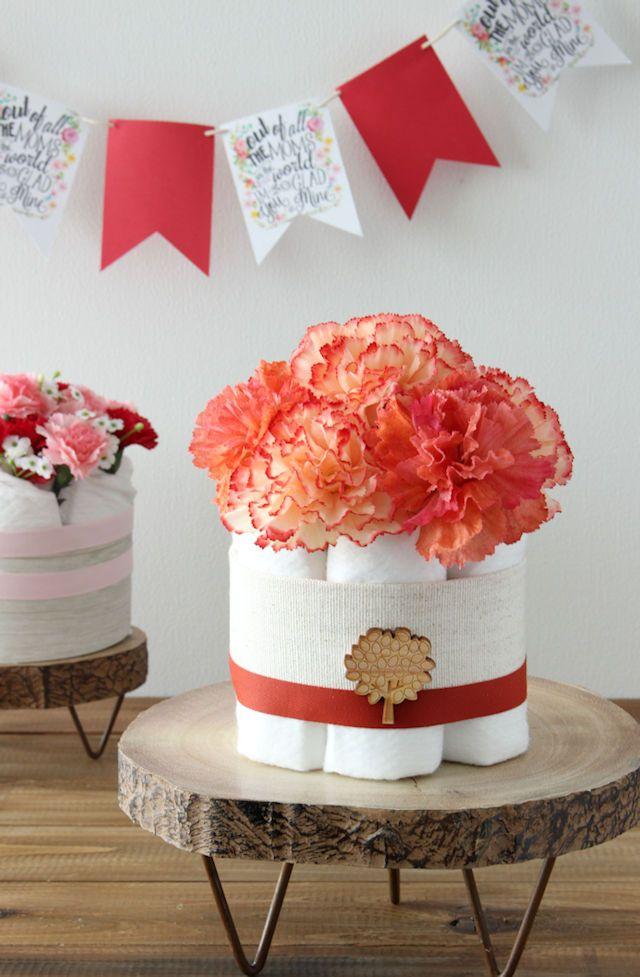 出産祝いに人気 簡単かわいいダイパーケーキおむつケーキの作り方