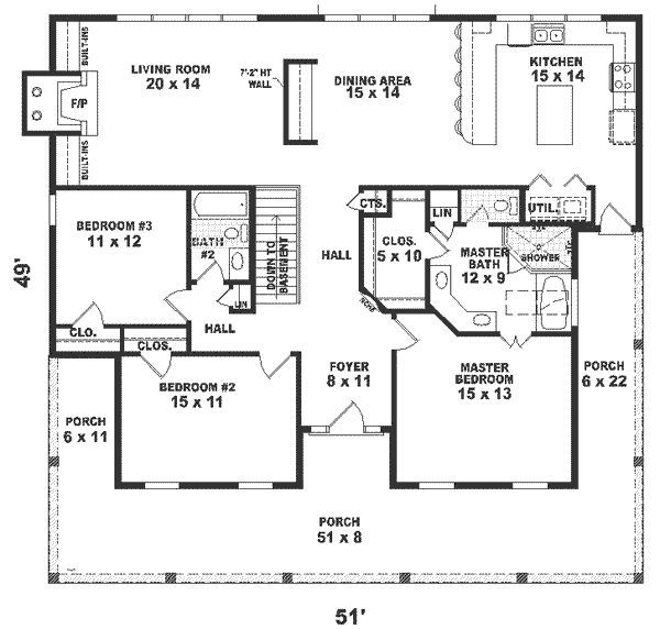 one story house plans 1500 square feet 2 bedroom ...
