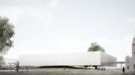 "Design competition ""The Museum of the 20th century"". Commendation. Exterior perspective"